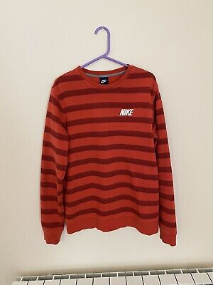 Mens Red Nike Jumper Sweatshirt Size Large VGC