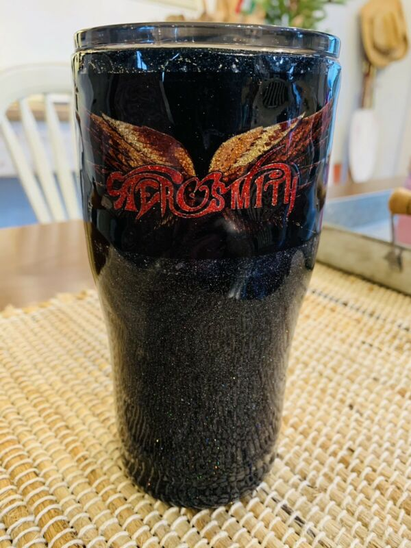 AEROSMITH - COFFEE TRAVEL CUP TUMBLER /Mug with Lid