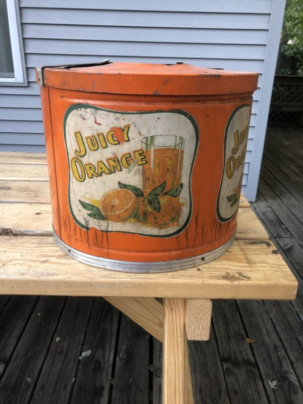 Old Vintage Juicy Orange Kool Aire Soda Fountain Syrup Dispenser Gas/Oil/Soda