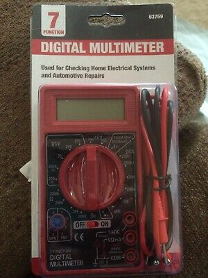New 7 Function Digital Multimeter Dc Ac Multi-tester Voltmeter Ohm Electrical