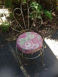 Metal dressing table chair Hornsby Heights Hornsby Area Preview