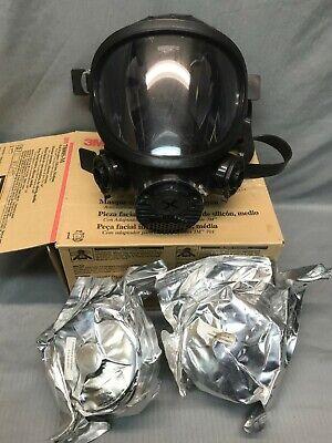 3m 7800s-m Full Faceshield Silicone Re-useable Respirator Size Medium