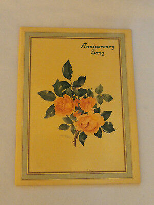 Anniversary Song Ideas 60as  Gift Greeting Card by Vera Hartman 1960's