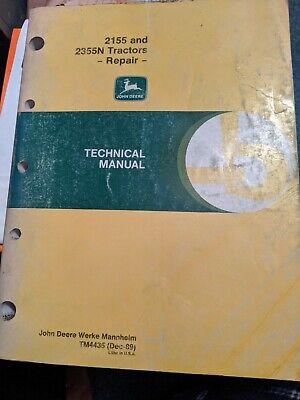 John Deere 2155 And 2355n Tractors Repair And Technical Manual Tm4435