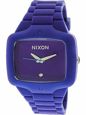 Authentic Nixon Rubber Player 45mm Purple A139230 Unisex Watch New A139-230-00