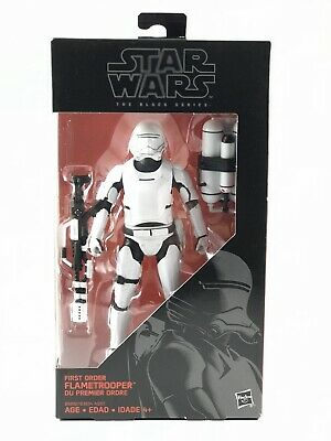 "Star Wars The Black Series 6"" Action Figure First Order Flametrooper #16 NIB"