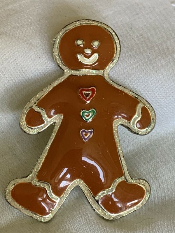 Christmas Holiday Gingerbread Brooch Pin JH-39