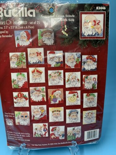 Bucilla Christmas Santas Of The World Counted Cross Stitch K