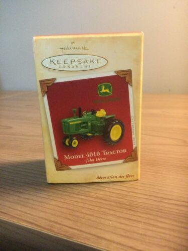 2004 Hallmark John Deere Model 4010 Tractor ornament MIB
