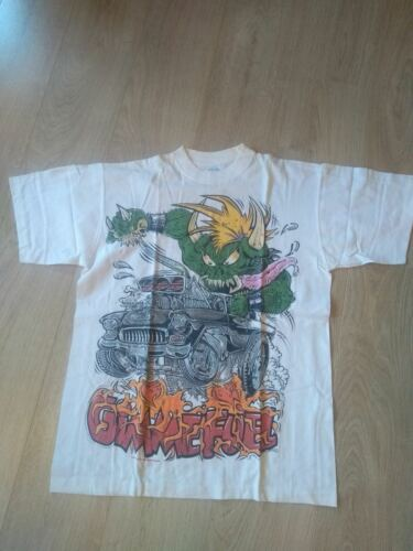 Metallica Vintage T-shirt Gimme Fuel White  Official merch Rare 1998 Used READ