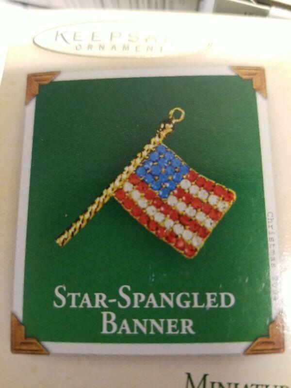 Hallmark Keepsake Ornament Star-Spangled Banner Miniature 2004 NIB QXM5204