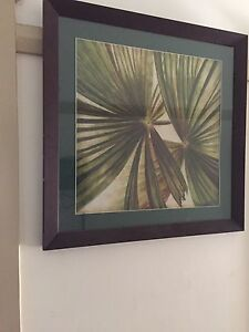 Wooden frame palm leaf print Lakemba Canterbury Area Preview