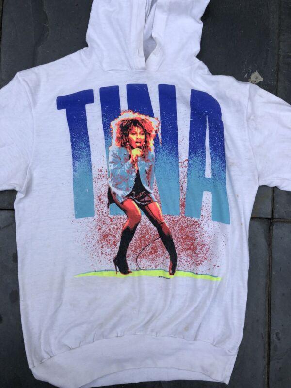 Tina Turner Concert Long Sleeve T Shirt Vintage Hooded Pepsi