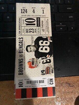 2018 CLEVELAND BROWNS VS CINCINNATI BENGALS FOOTBALL TICKET STUB 12/23 (Cleveland Browns Ticket Stub)