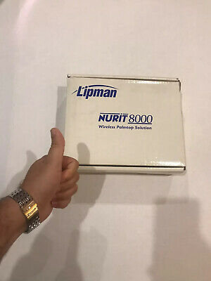 Lipman Nurit 8000 Wireless Palmtop Solution Credit Card Machine Verifone New