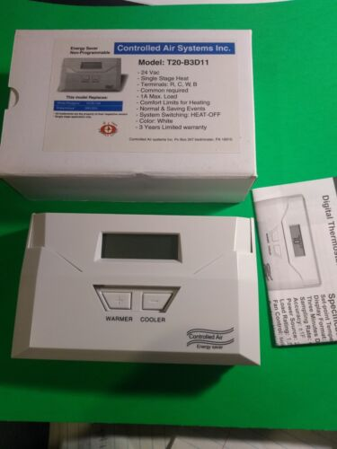 Digital  heater Thermostat Single Stage Heat only gas electric non-programmable