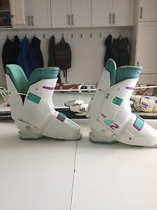 Women's retro ski boot.