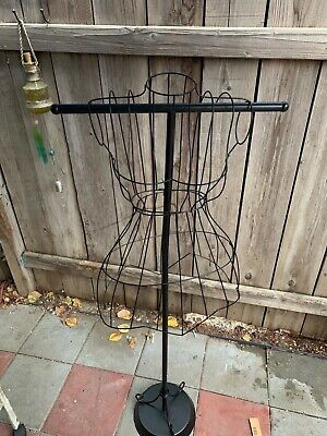 Female Steel Wire Mannequin Vintage Dress Form On Decorative Stand New 54 High