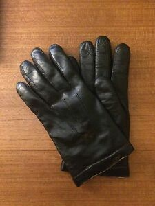 Dressy Wool-Lined Leather Gloves