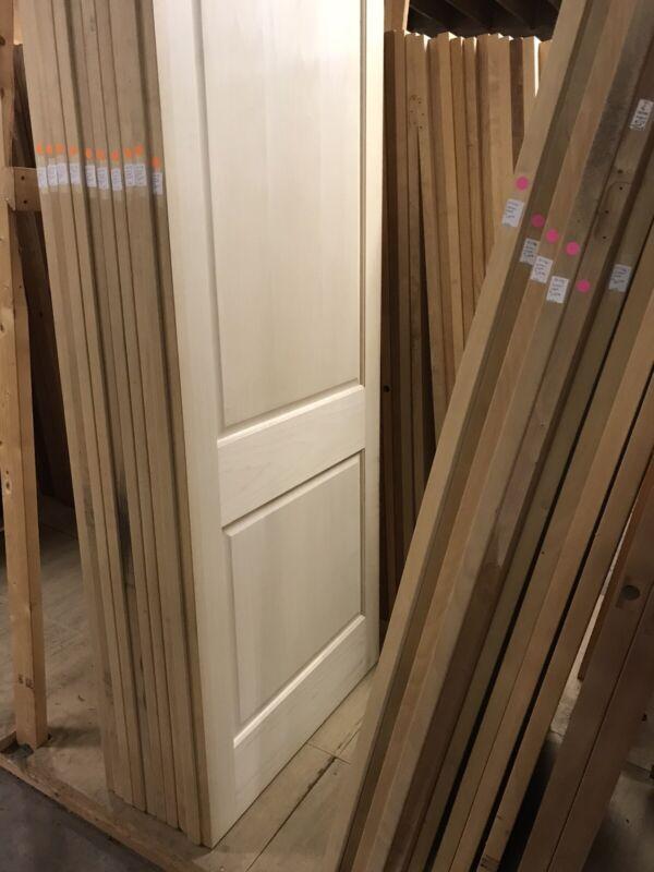 "36"" X 96"" Unfinished Maple 2 Panel Door Slab"