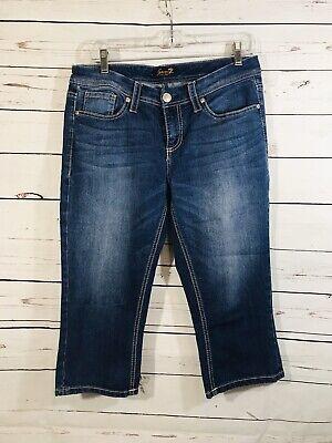 Seven7 Seven 7 Womens Crop Jeans Sz 10 x 19 Medium Wash Short Pants Ladies
