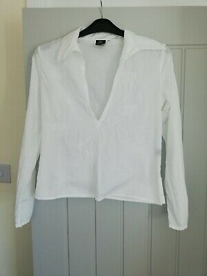 Ladies White Versace Jeans Couture Shirt Size Small