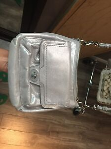 Silver coach cross body