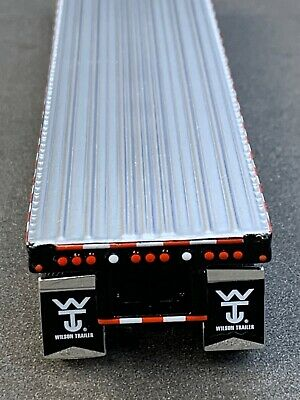 1/64 DCP BLACK 53' WILSON ROAD BRUTE 6 AXLE FLATBED TRL W/ BULKHEAD 3