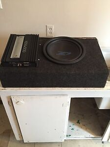 Subwoofer with Amp and box