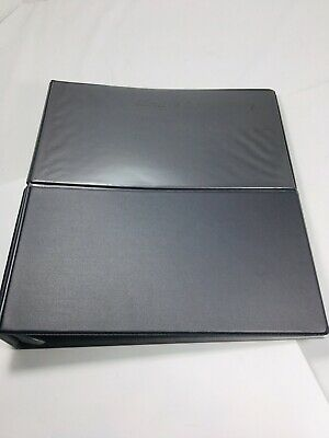 Vintage Plastic 2 3-ring Binder Presentation Fold Out Black