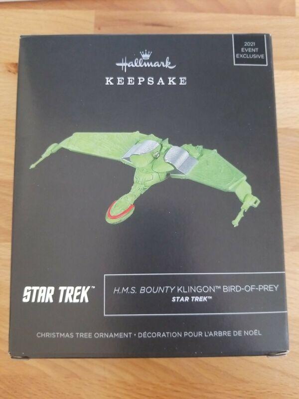 Star Trek HMS Bounty Klingon Bird-of-Prey Metal Ornament Hallmark SDCC FAST SHIP