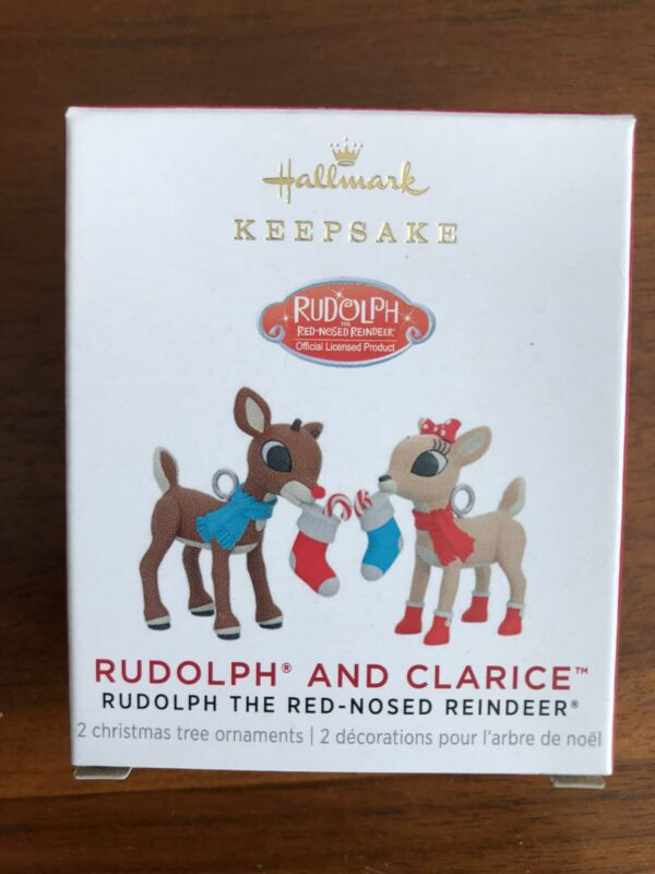 HALLMARK 2021 RUDOLPH THE RED NOSED REINDEER RUDOLPH AND CLARICE MINIATURE