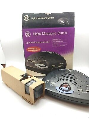 GE Digital Messaging System 29875GE2 Answering Machine Voice Time/Day Stamp