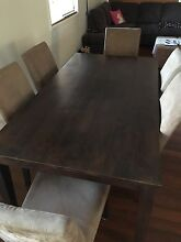 Wooden Dining Table with 6 Chairs Capalaba Brisbane South East Preview