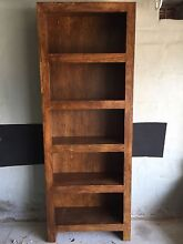 Mango wood bookcase Mosman Mosman Area Preview