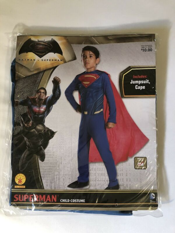 NEW Superman Child Costume Size Small 4-6 Includes Jumpsuit & Cape