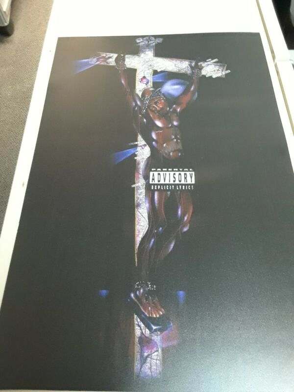 """Makaveli Hanging On Cross 11"""" X 17"""" 2pac, Tupac Album Art By Riskey Limited..."""