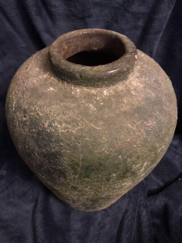 """Antique Korean Silla Stoneware Jar Vessel Vase Urn 11"""" High 8.8 Lbs"""