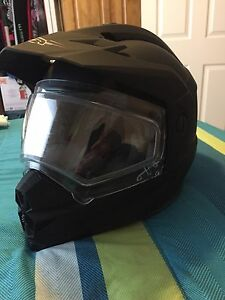 Zox winter mx style helment with double layer sheild