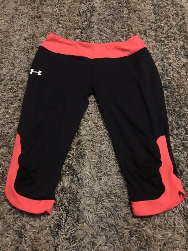 Under Armoir Fitted Girls Sz Large Capri Yoga Athletic Pants