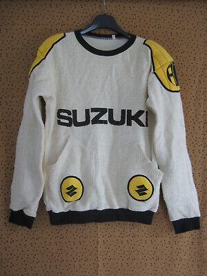 Sweat suzuki maillot vintage motocross 80's enduro moto jersey - s