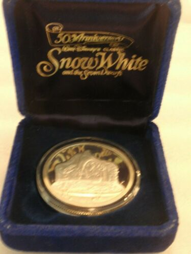 1987 Rarities Mint Disney 50th Anniversary The Witch .999 Silver Coin Medal!