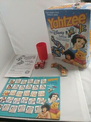 Yahtzee Jr. The Disney Edition 2002 Milton Bradley Hasbro Snow White Pooh Jungle, used for sale  Oshkosh