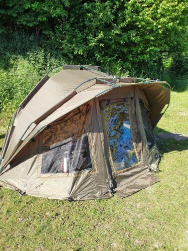 MK Fort Knox Dome 2 Mann Angelzelt 2 Personen Karpfen Zelt Top Zustand