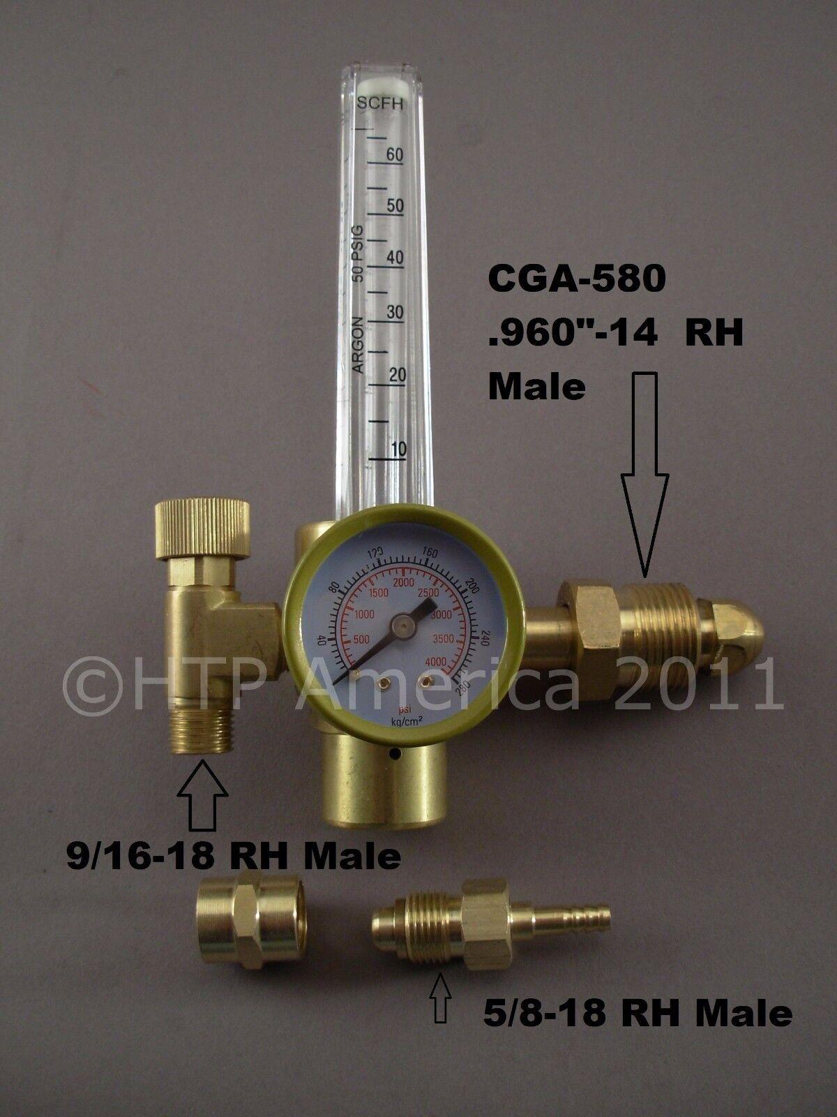 HTP Argon CO2 Mig Tig Flow meter Regulator Welding Weld Flowmeter