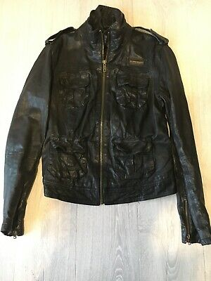 Womens Superdry Leather Jacket Large