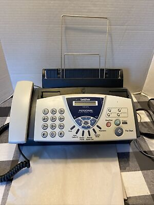 Brother Personal Plain Paper Fax Phone And Copier Machine Fax-575 With Manual