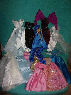 (12) BARBIE & FRIENDS ~ GOWNS ~ DRESSES ~ CLEAN