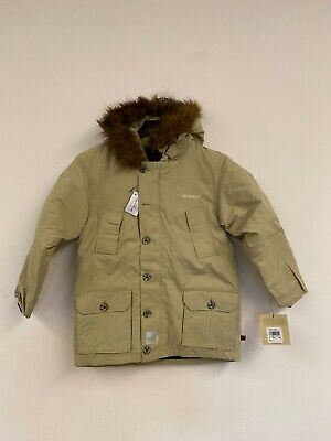 Woolrich Boys Down Waterproof Arctic Parka Jacket Coat Tan NWT Size 7