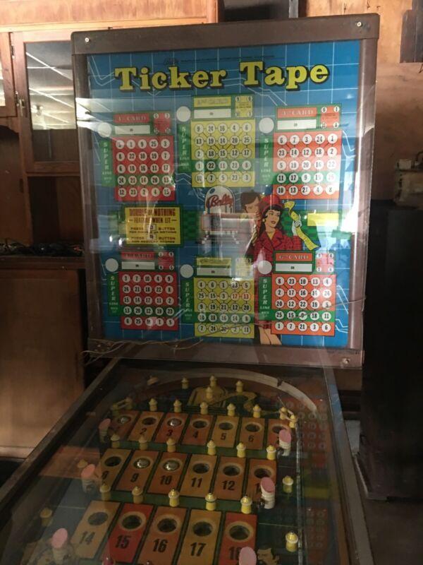 Bally Pinball-Bingo Machine Vintage 1970's Ticker Tape